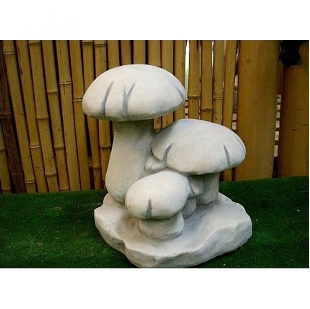 Pilze aus steinguss - Gartendeko pilze aus stein ...