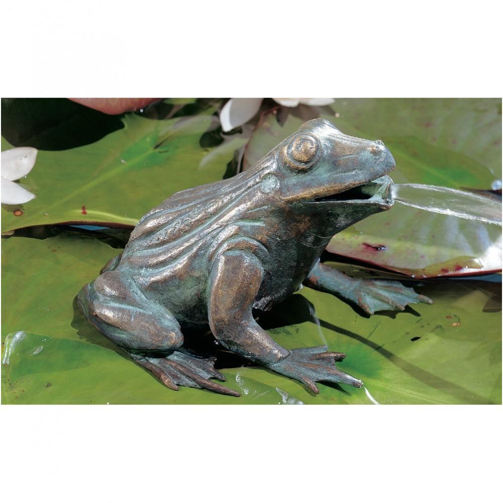 wasserspeier frosch skulptur aus bronze
