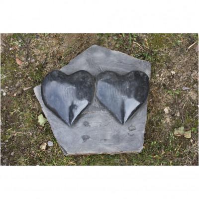 Basaltplatte Herzen