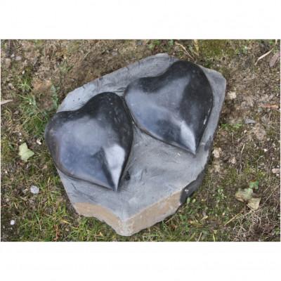 Basaltplatte Herz