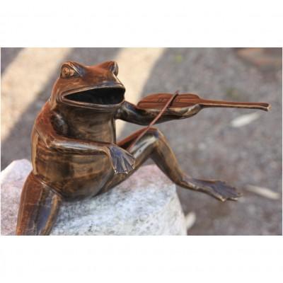 Frosch mit Geige