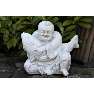 Buddha mit Koi