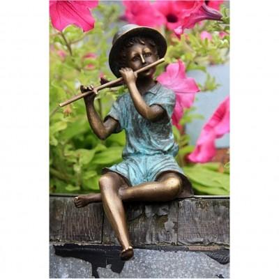 Bronze Flötenspieler