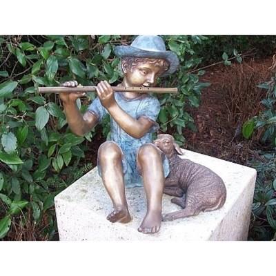 Flötenspieler Bronze