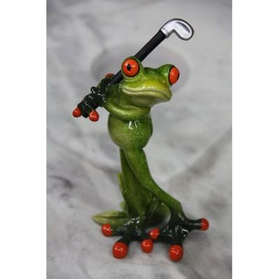 Frosch spielt Golf