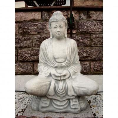 Buddhas aus Steinguss, Granit, Bronze