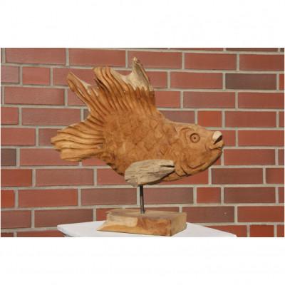 Teakholz Fisch