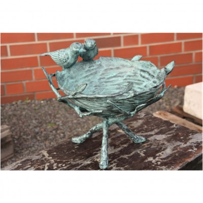 Vogelbad Bronze